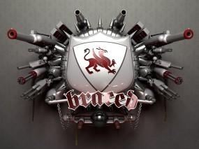 Обои 3D герб: Логотип, Оружие, 3D Графика