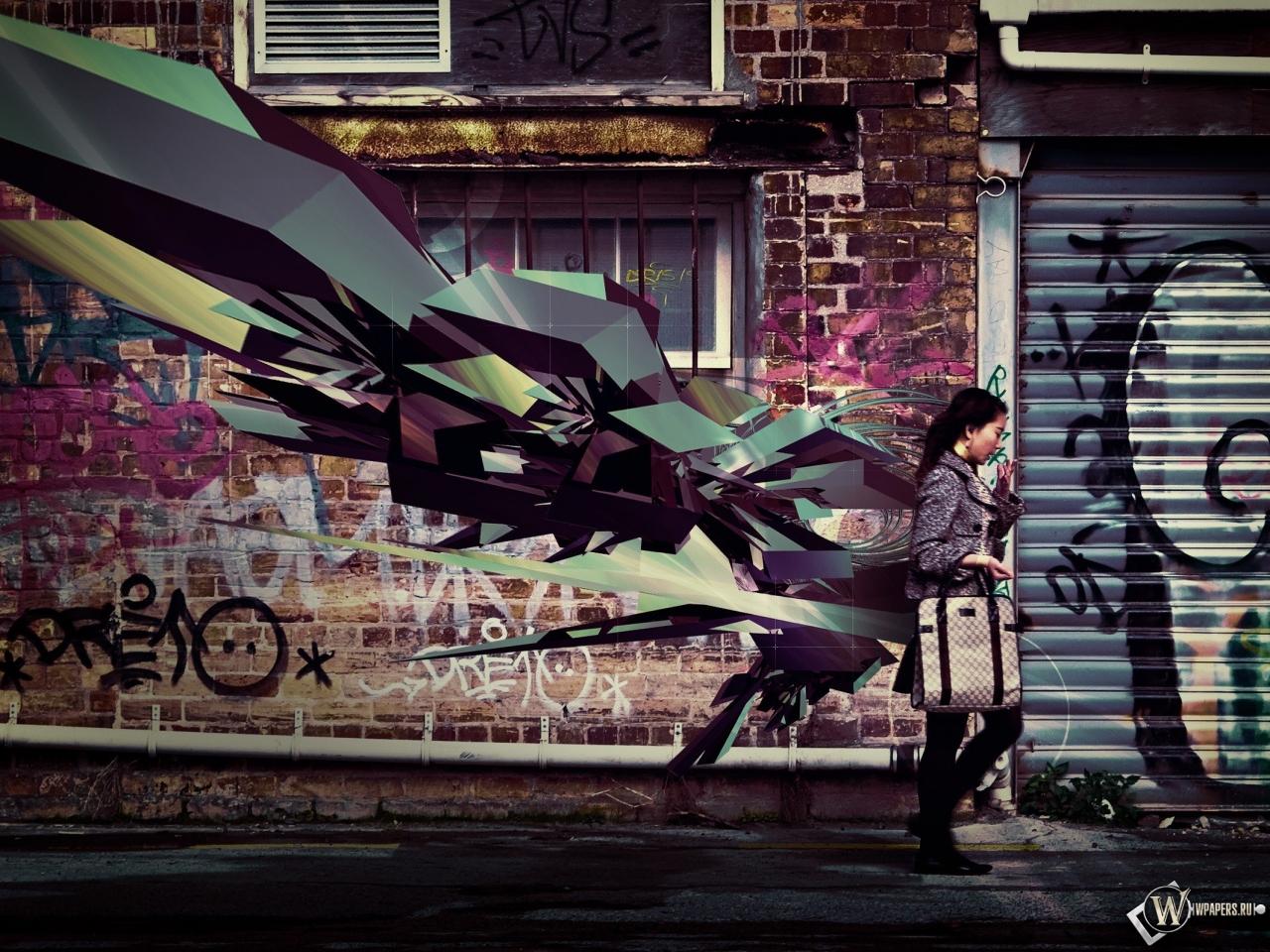 Обои 3d граффити на рабочий стол с