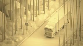 Обои Грузовик: Машина, Дорога, Лес, 3D Графика