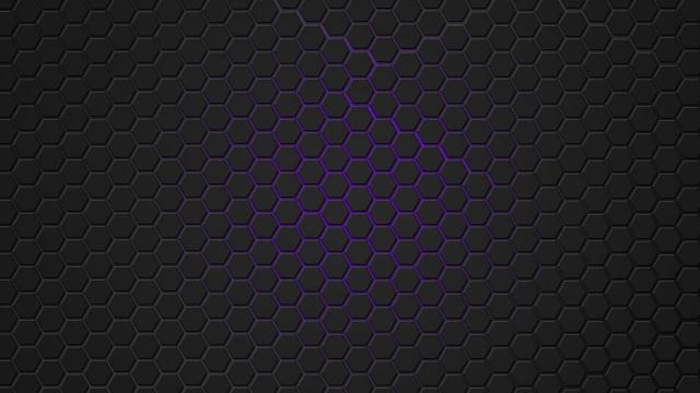 Фиолетовая гексагональная решётка