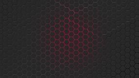 Обои Красная гексагональная решётка: Решетка, Синий, гексагон, 3D Графика