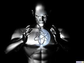 Обои Атом: Энергия, Робот, Атом, 3D Графика