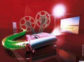 Обои Кинотеатр: Кино, Проектор, 3D Графика