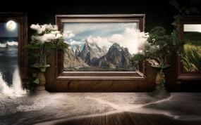 Обои 3D Картина: Облака, Картина, 3D Графика