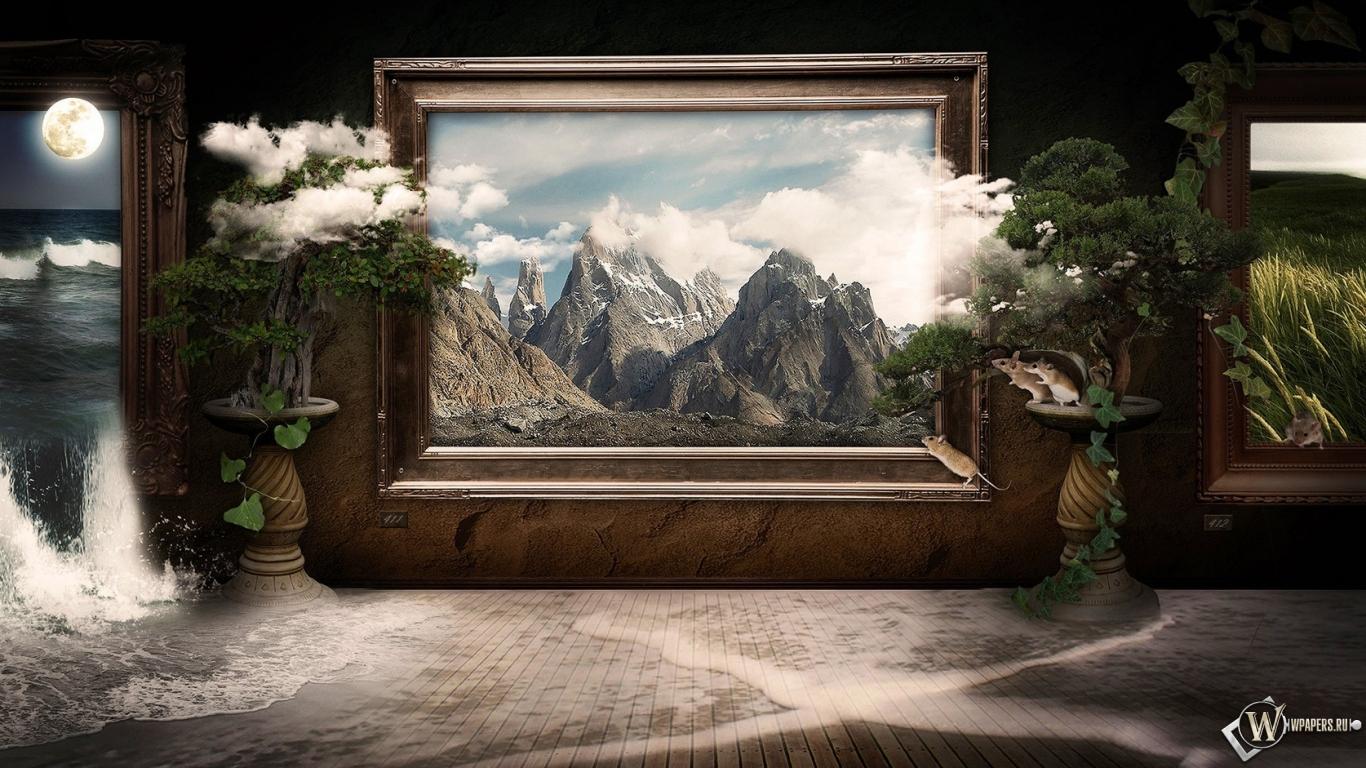 3d картина облака обоев 293 картина