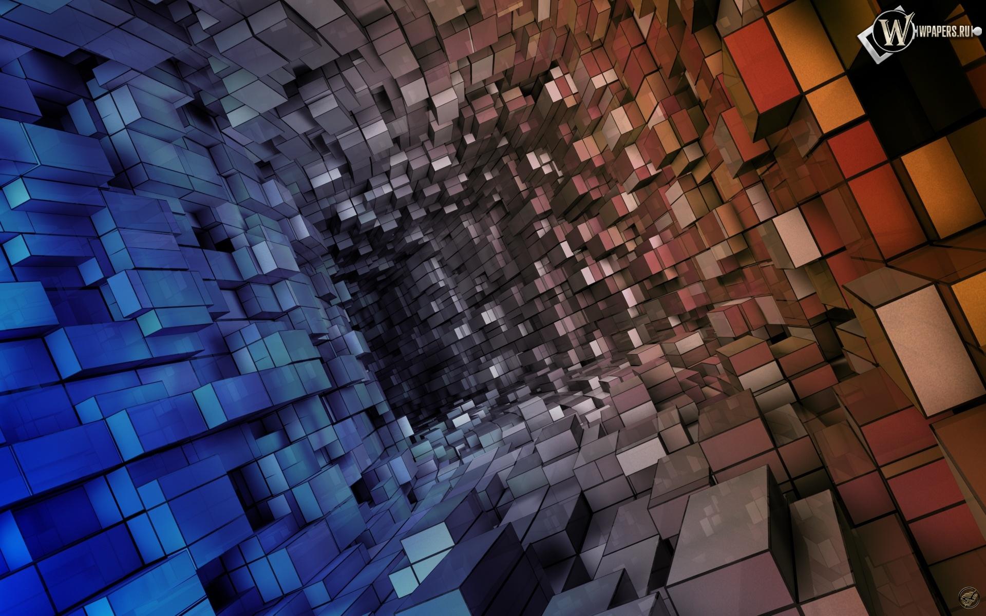 Кубическая абстракция 1920x1200