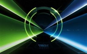 Обои Tron legacy: Синий, Зелёный, Лучи, Абстракции