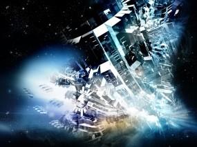 Обои Космическая абстракция: Абстракция, Космос, Механизм, Фантазия, Абстракции