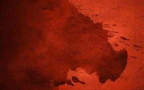 Обои Устрашающее кровавое пятно: Макро, Красный, Краска, Абстракции
