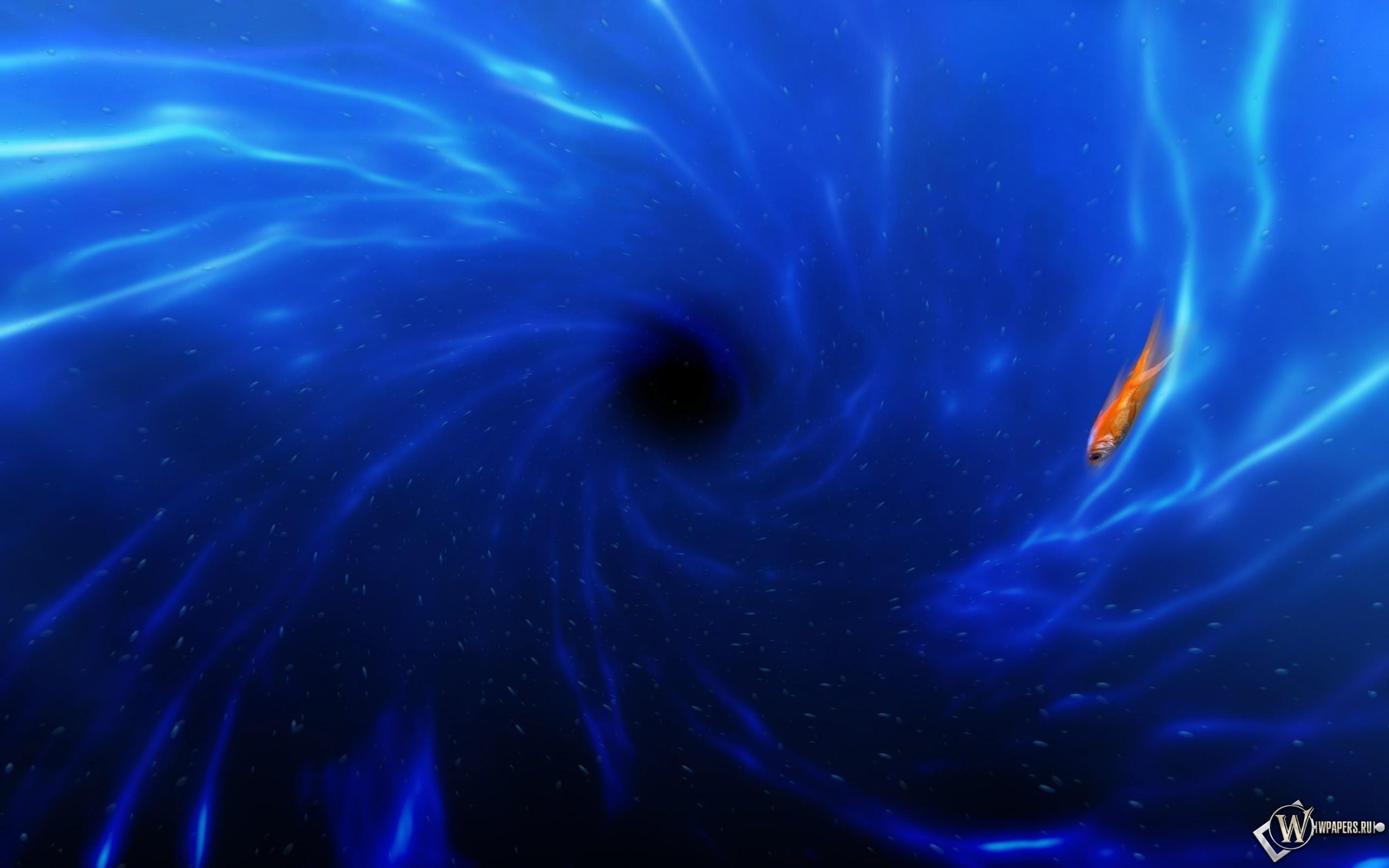 Синий водоворот 2560x1600