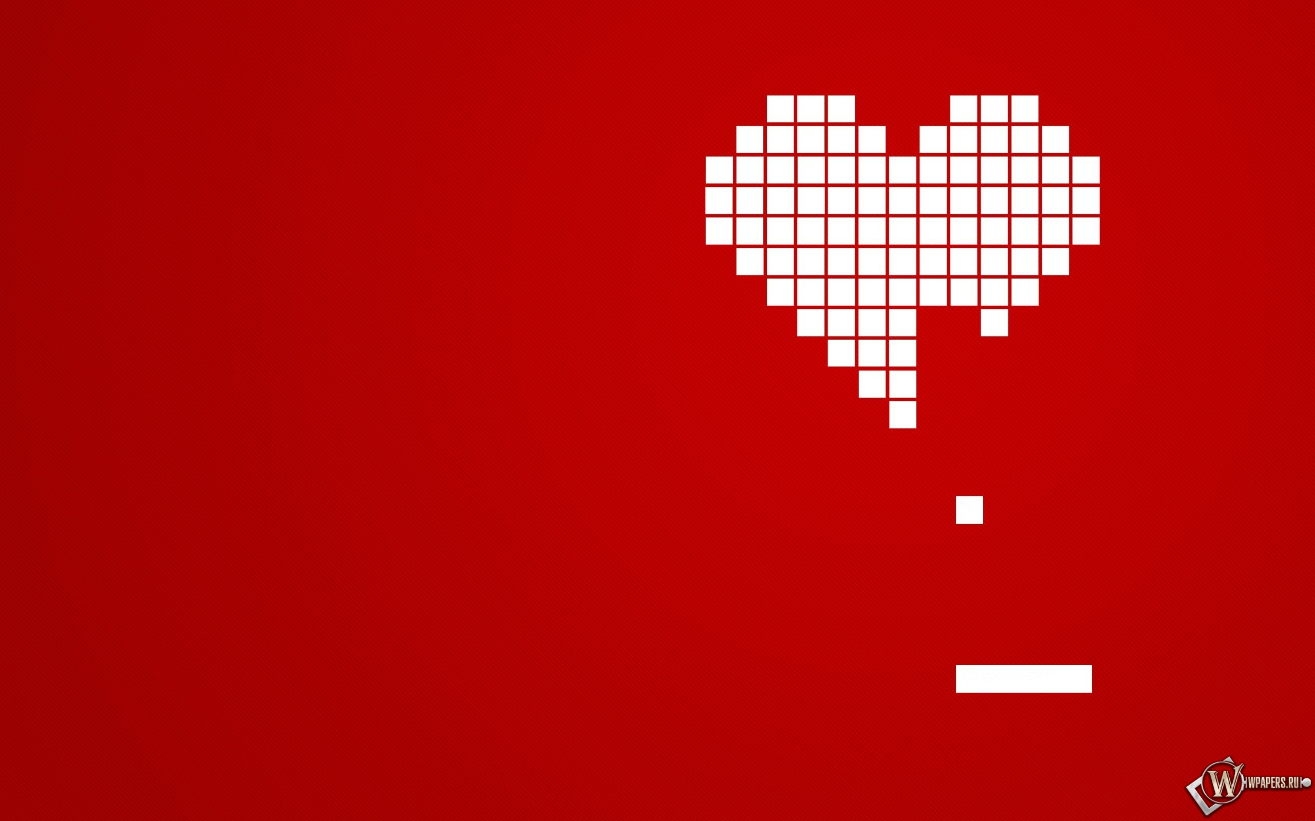 Сердце из кубиков 2560x1600