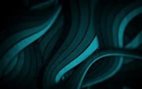 Обои Бирюзовые потоки: Абстракция, Поток, Абстракции