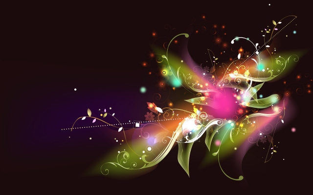 Радужный цветок