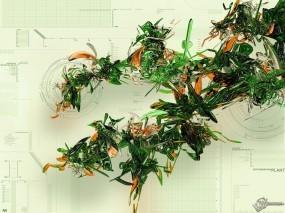 Обои 3D Листва: Растение, Биология, Эволюция, Абстракции