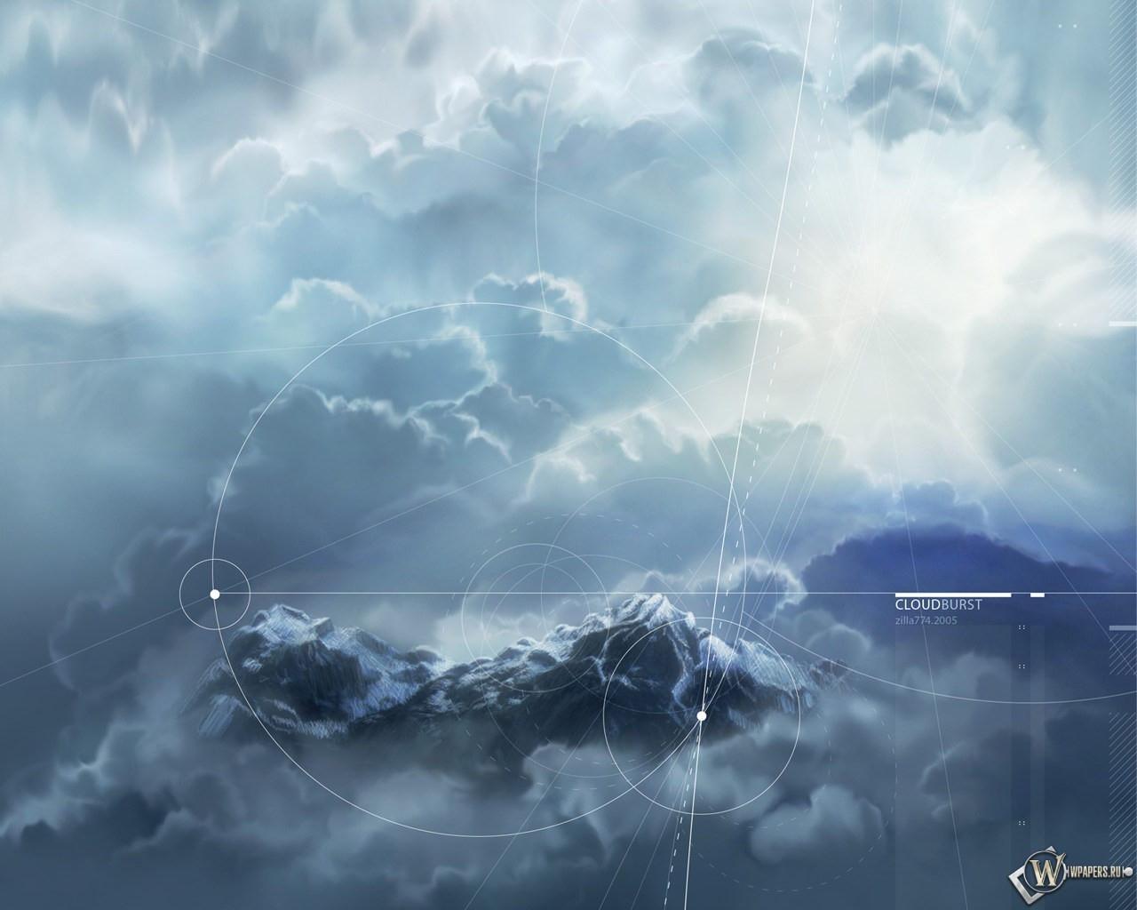 Cloud burst digital 1280x1024