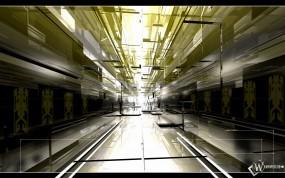 Обои 3D hall: Свет, Коридор, 3D, Абстракции