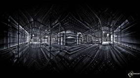 Обои 3D Стройка: Отражение, Стройка, Свет, Опоры, Абстракции