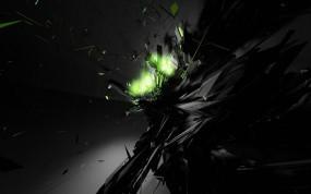 Обои 3D Взрыв: Свет, Взрыв, Чёрный, Абстракции