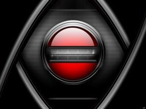 Обои Кнопка на сетке: Металл, Сетка, Кнопка, Абстракции