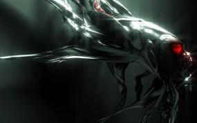 Обои Темное существо: Абстракция, Изгибы, Кровь, Существо, Абстракции