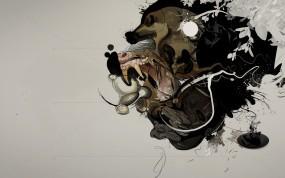 Обои Абстракция бабуина: Абстракция, Обезьяна, Бабуин, Абстракции