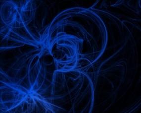 Обои UnKnown: Завитки, Синий, Чёрный, Абстракции