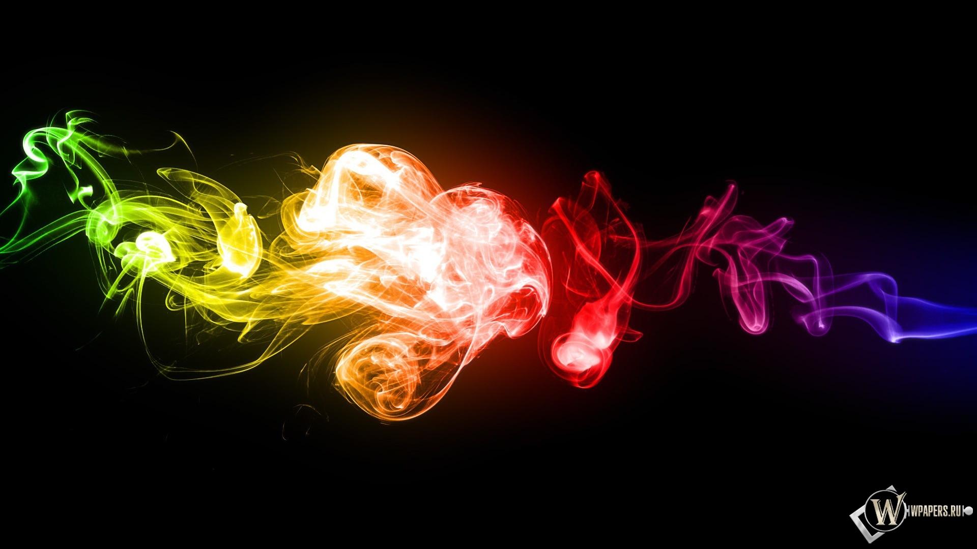 Обои цветной дым цвета дым 1920x1080