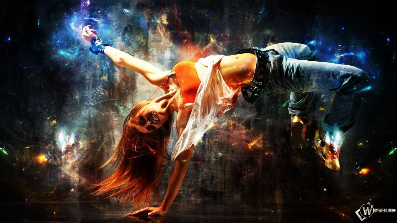 Обои абстракция танца абстракция