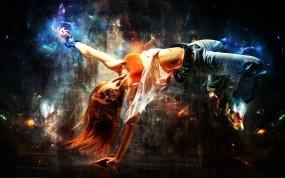Обои Абстракция танца: Абстракция, Девушка, Танец, Абстракции