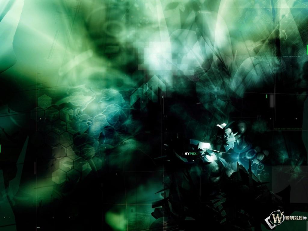Обои зеленая абстракция абстракция