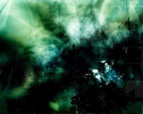 Обои Зеленая абстракция: Абстракция, Зелёный, Абстракции