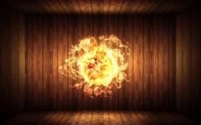 Обои Огненный шар: Огонь, Ламинат, Шар, Рендеринг