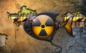 Обои Радиационная рыбка: Рыба, Радиация, Значок, Рендеринг