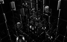 Обои Кубики и шарики: 3D, Кубики, Шарики, Рендеринг