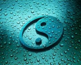 Обои Инь-Янь: Текстура, Капли воды, Инь-Янь, Рендеринг