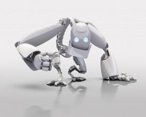 Обои Белый робот: Белый, Робот, Рендеринг