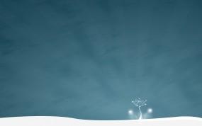 Обои Зимнее дерево: Зима, Снег, Дерево, Рендеринг