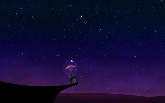 Одинокая лампочка