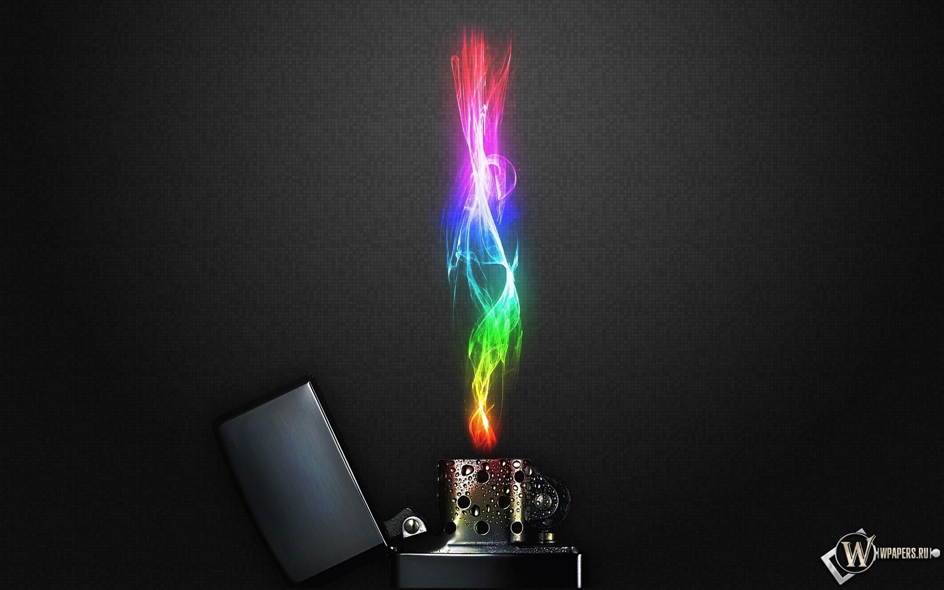 Зажигалка с радужным пламенем 1920x1200
