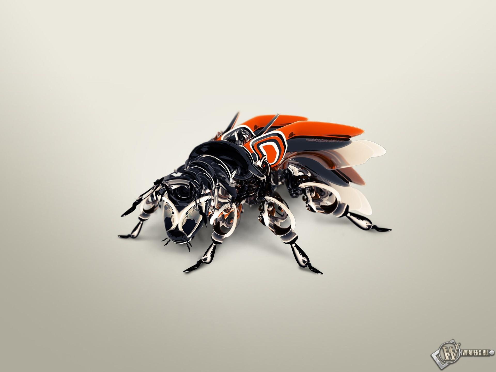 Муха-робот 1920x1440