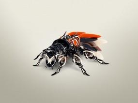 Обои Муха-робот: Насекомое, Робот, Рендеринг