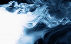 Обои Клубящийся дым: Дым, Синий, Белый, Рендеринг