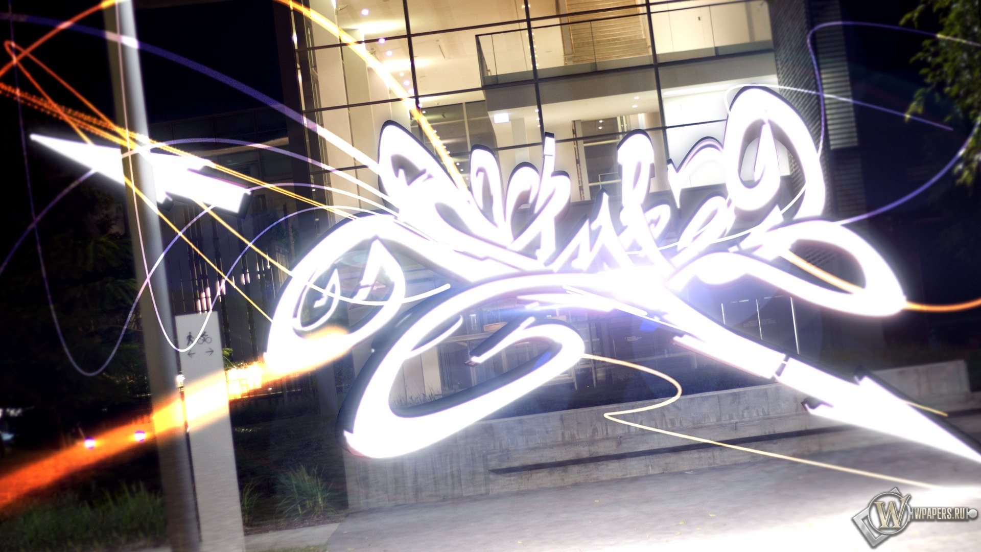 Мерцающее граффити 1920x1080