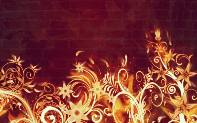 Огненный цветы