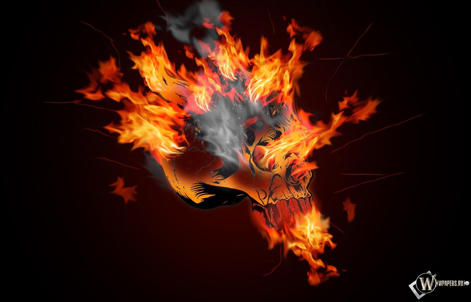 Огненный череп 1600x1024