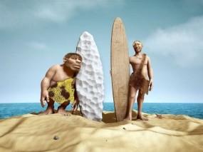 Обои Древние люди: Песок, Сёрфинг, Люди, Рендеринг