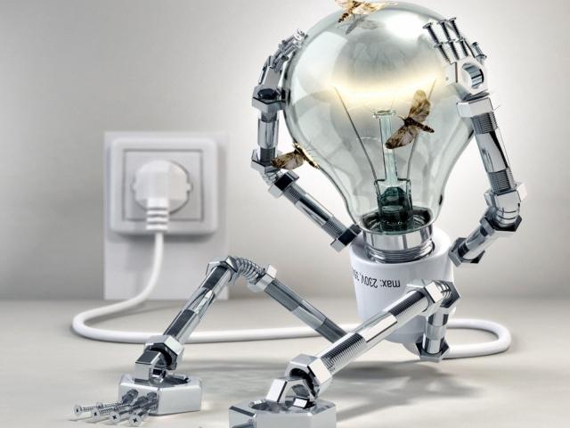 Робот-лампочка