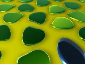 Обои Зелёные пятна: Зелёный, Рендеринг, Пятна, Рендеринг