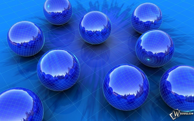 Синие шары 1440x900