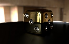 Обои Золотой куб: Куб, Золото, Кости, Кубик, Рендеринг